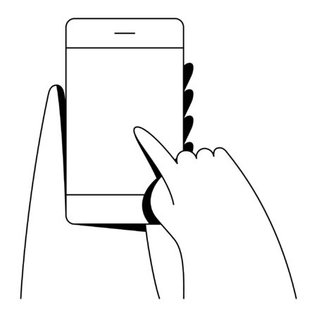 Minimal linear style vector illustration.
