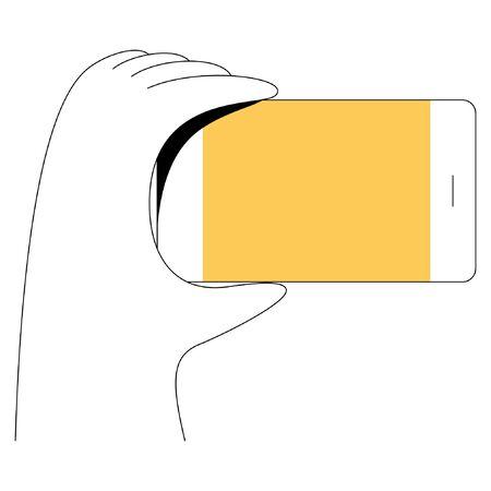 Minimal flat linear style illustration.