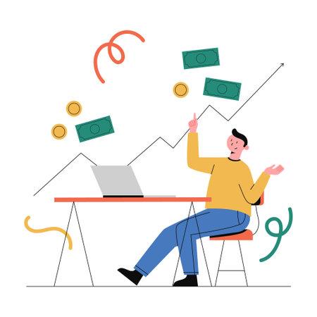 Business concept vector illustration. Ilustração
