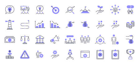 Business Presentation Icon set. Contains such Icons as data analysis, meeting, money, trophy, and more.
