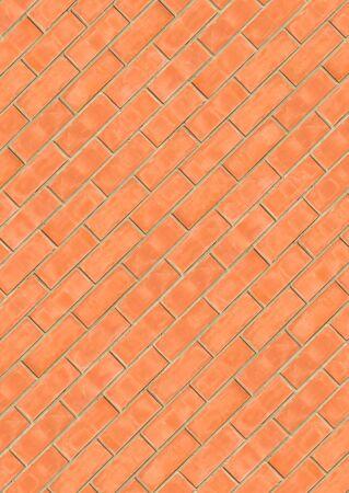 Diagonal brickwork seamless texture