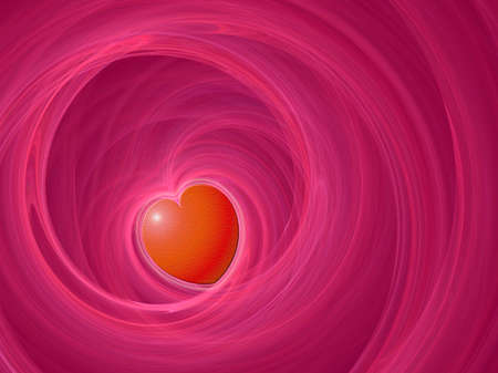 Love card background with heart symbol in pink and red colors photo