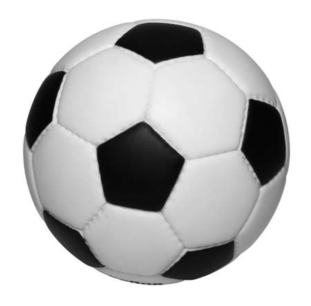 Soccer ball isolated on white background, clipping path is included Standard-Bild