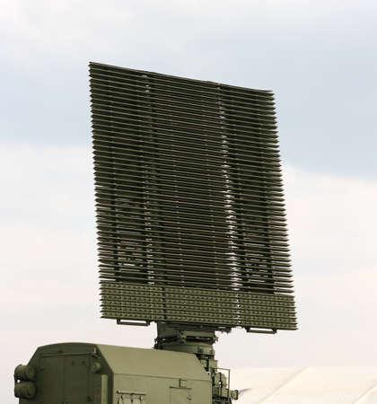 Military radar antenna in the MAKS 2007 show photo