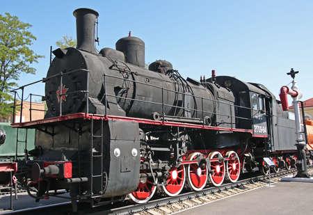 Steam locomotive in Rostov-on-Don railroad museum