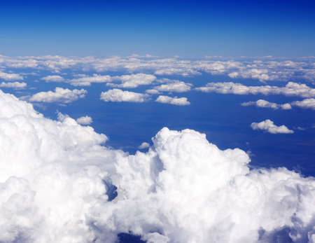 Over the clouds in the sky