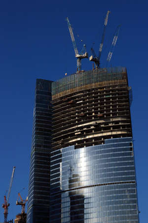 Moscow-city tower construction in september 2008