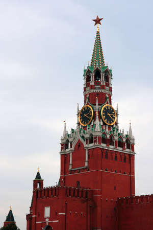 Spass tower of the russian Kremlin in the Red Place Standard-Bild