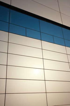 Steel wall of the modern building Standard-Bild