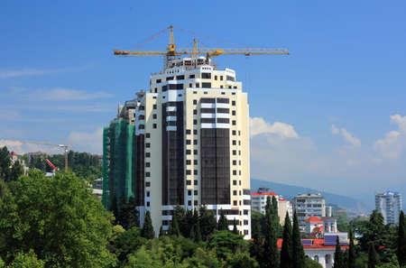 New building construction in Sochi, Russia Standard-Bild