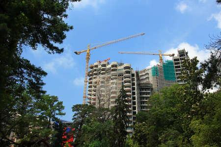 New building construction in Sochi