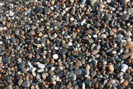 Sea pebbles in the sea beach