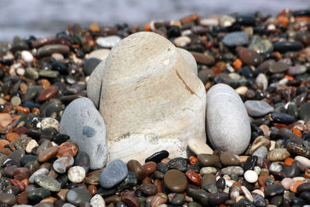 Three stones in the sea beach