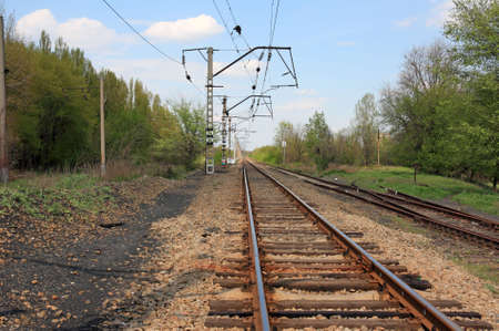 Long railway track in a province