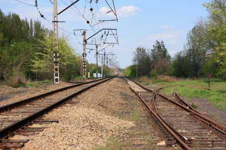 Two railway tracks - old and new