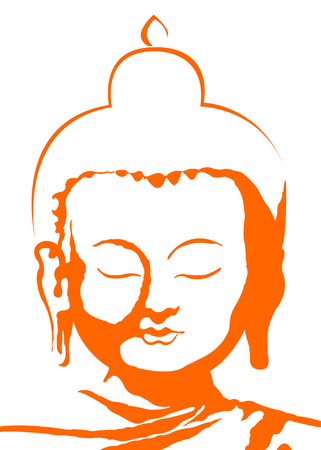 the vector color buddha head Illustration