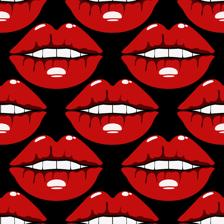 Vector seamless pattern blood lips sexy female