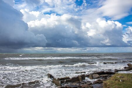 'black sea': Black sea coast in Poti, Georgia