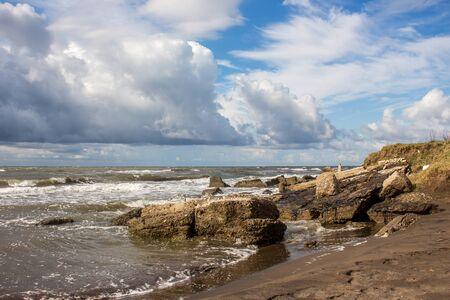the black sea: Black sea coast in Poti, Georgia