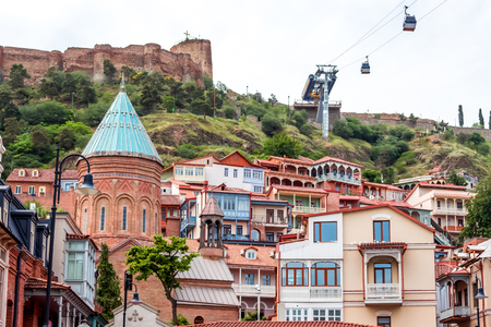 crist: Traditional wooden carving balconies of Old Town of Tbilisi, Republic of Georgia.