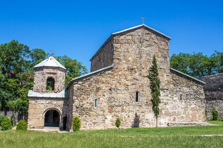 mediaeval: mediaeval orthodox church Zedazeni,  Georgia.