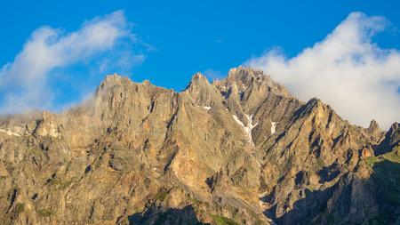 georgian: Georgian Military Highway, Caucasus mountains.