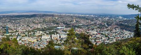 rustaveli: Panoramic view of Tbilisi fron Mtatsminda, the capital of Georgia.