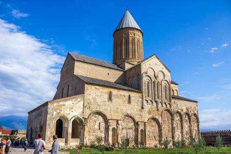 Panorama view of Alaverdi Monastery - Georgian Eastern Orthodox monastery in Kakhetia region in Eastern Georgia.