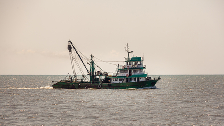 Fishing ship in Black sea, Poti, Georgia Stock Photo