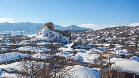 medieval Fortress in Surami town in Shida Kartli region, winter, Georgia.