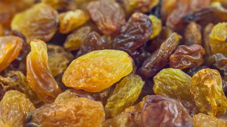 Fond de raisins secs raisins, gros plan.