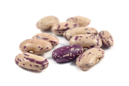 colorful beans isolated on white background. Stock Photo