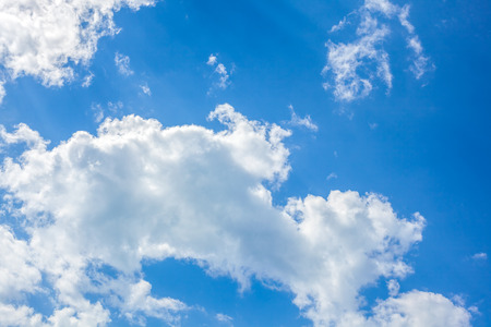 impression: Clouds with blue sky , natural texture.