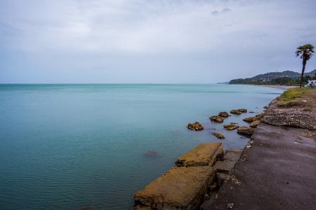 Beautiful sea landscape in Ajaria, Georgia. View in 14.05.2017.