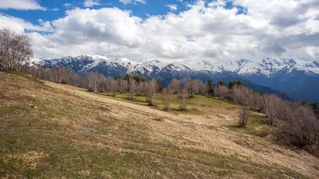 mountainous: Beautiful mountains of svaneti, mountainous region of Georgia. Stock Photo