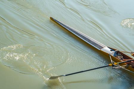 rowing on the river Rioni, Poti, Georgia.