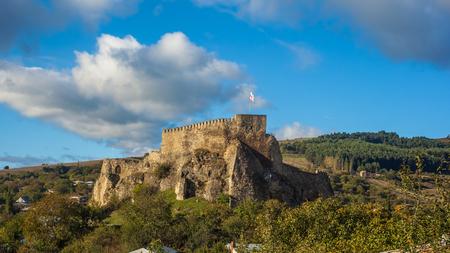 archaeologies: medieval Fortress in Surami town in Shida Kartli region, Georgia. Stock Photo