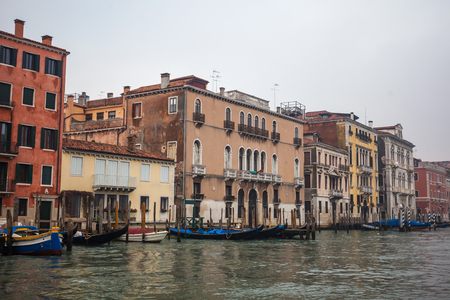 Grand Canal in Venice, Italy. Moisture.