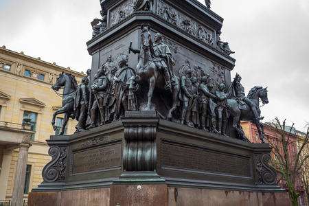 Equestrian Statue Frederick the Great in Berlin Germany. Editorial