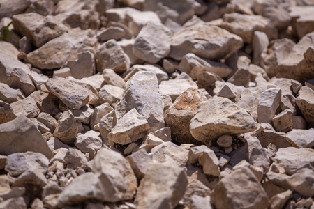Rocks, small rocks or gravel. Used for construction of buildings, roads and for landscaping. Banco de Imagens