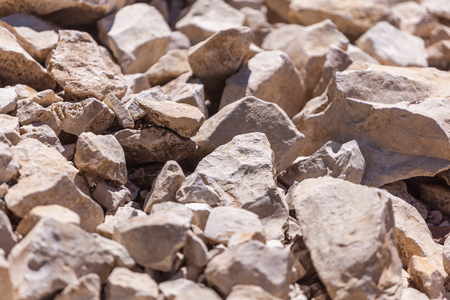 Rocks, small rocks or gravel. Used for construction of buildings, roads and for landscaping. Banco de Imagens - 105969491