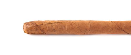 The long cigar isolated on a white background.