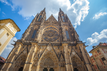 St. Vitus Cathedral in Prague in a beautiful summer day.