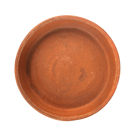 ketsi, georgian traditional clay pot for cooking food on white background.