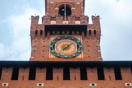 Sforza Castle (Castello Sforzesco) is a castle in Milan, Italy. Stockfoto