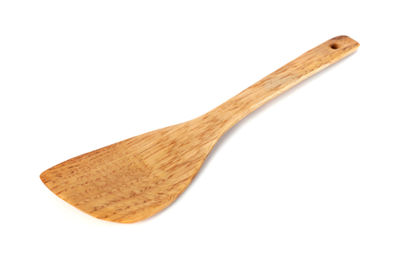 wooden kitchen Spatula isolated on white background, kitchen tools
