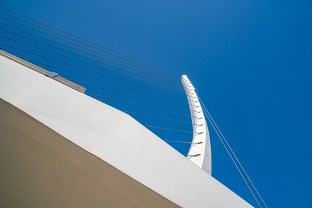 The pedestrian bridge placed at the Mesogeion street made by the famous Spanish architect Santiago Calatrava. Greece