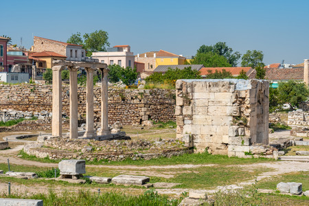 View of Ancient Agora of Athens, Greece. Travel