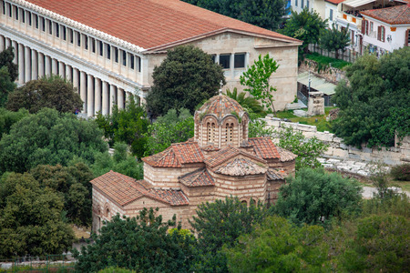 Byzantine Church of the Holy Apostles in Athens, Greece, travel