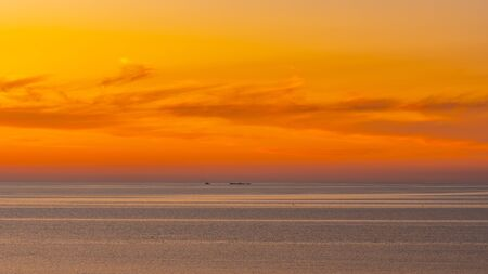 Beautiful colorful sunset on the Black sea. Magnificent View. Landscape.